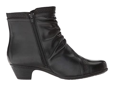 Hill LeatherGrey Abbott Cobb Collection Leather Black Rockport Panel Hill Cobb Boot qwz4Z4