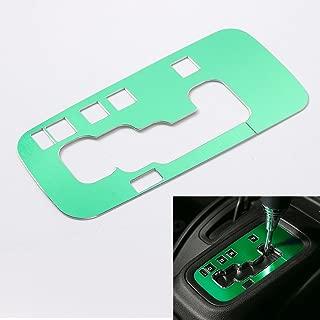 RT-TCZ Aluminium Gear Shift Knobs Cover Trim for Jeep Wrangler JK 2011-2017 4 Door (Green)