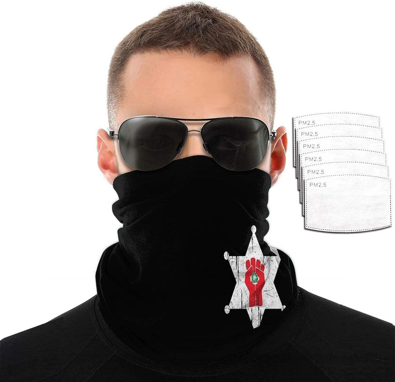 Golden Vista Face Cover Breathable Bandana Neck Gaiter Balaclava Scarf for Sun UV Protection with 6 Filters