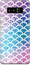 Inspired Cases - 3D Textured Galaxy Note 8 Case - Protective Phone Cover - Rubber Bumper Cover - Case for Samsung Galaxy Note 8 - Mermaid Scales - Rainbow Case
