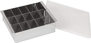 貝印 KAI 和菓子用器具 シルバー 約幅17×奥行14×高さ5cm 寒天冷菓流し器 カバー付き 464450