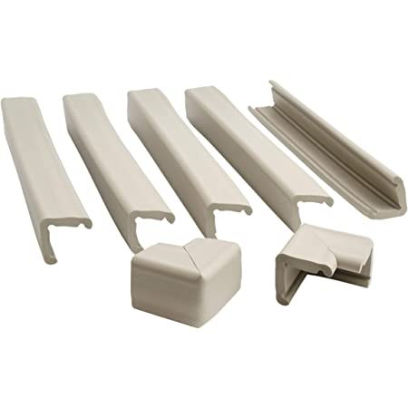 Prince Lionheart Fireplace Guard with Two Corners, Grey/Beige