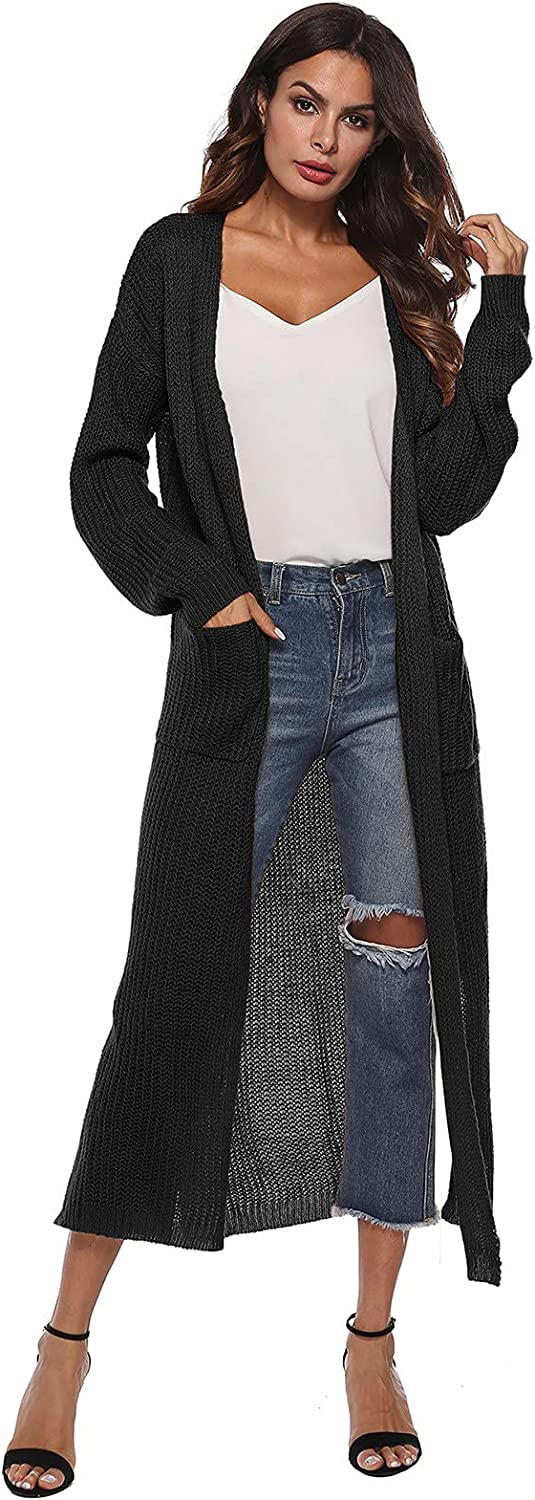 ZDNB 2021 Womens Classic Lightweight Fit Cardigan Solid Color Long Sleeve Knitted Top Cropped Sweater Coat With Pocket