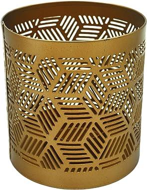 Alchemade Midcentury Modern Brass Geometric Candle Holder Metallic Gift Housewarming, Wedding, Decorative