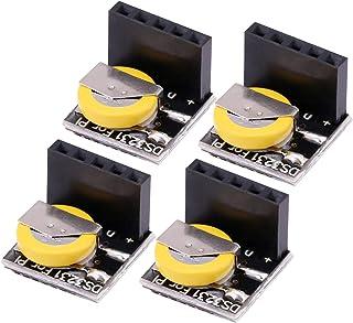 Kuuleyn Módulo de Memoria de Reloj RTC, 4 Piezas/Juego DS3231 Módulo de Memoria de módulo de Reloj RTC de Alta precisión p...