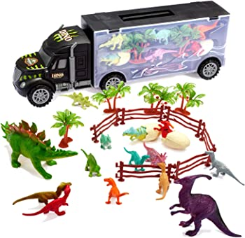 Tuko Car Toys Dinosaurs Transport Carrier Truck Playset