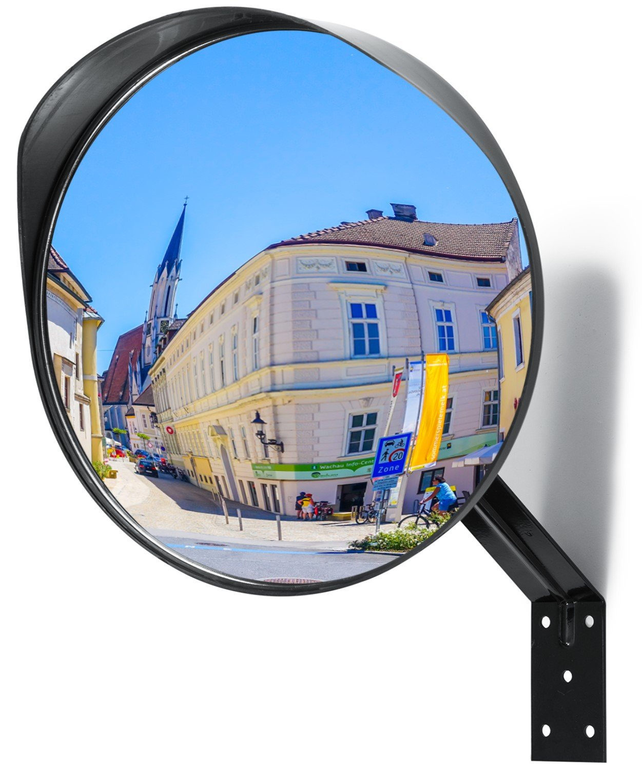 Adjustable Convex Mirror - Clear View Garage and Driveway Park Assistant - 12