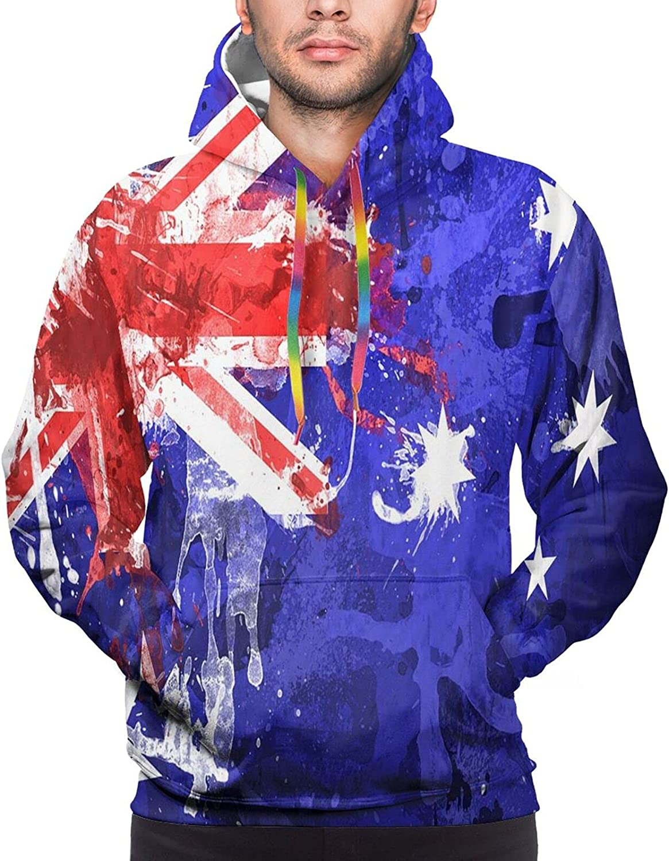 Hoodie For Teens Boys Girls Blood Australia Flag Hoodies Outdoor Sports Sweater
