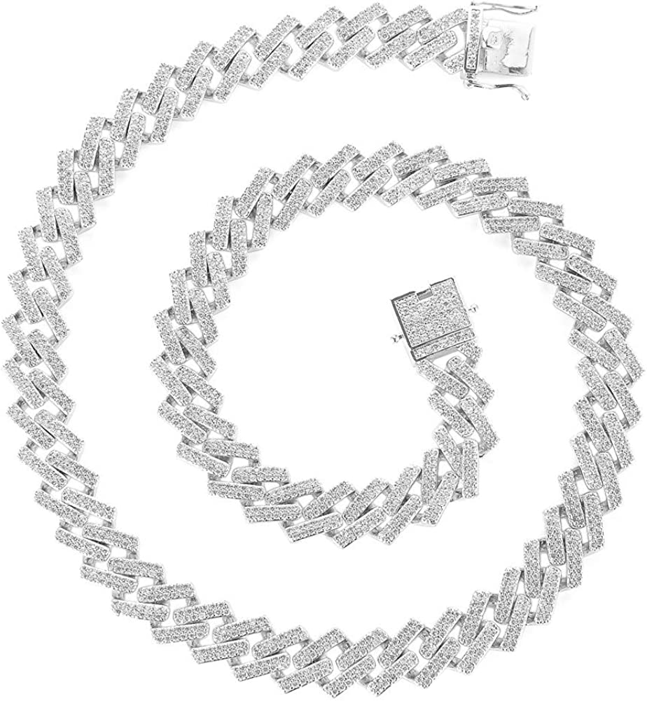 Bling New item Iced Baltimore Mall Out Diamond Cuban Link Gold Silver Hip Chun Hop Chain