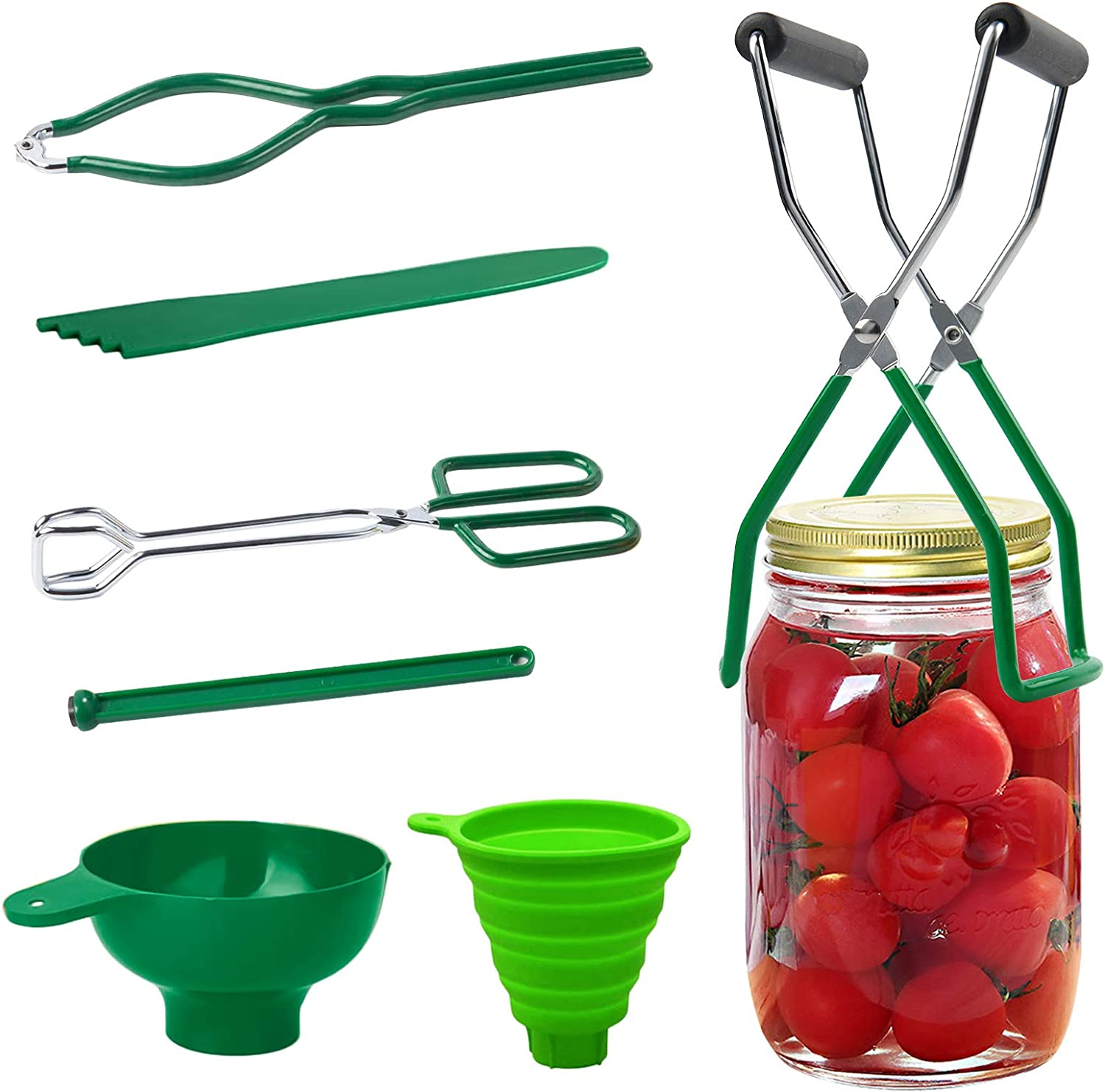 Guilian 7 Piece Canning Kit Canning Supplies Set Canning Jar Lifter with Grip Handles, Stainless Steel Large Canning for Home Ca