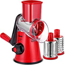Geedel Cheese Grater, Fast Cutting Rotary Vegetable Slicer Perfect for Vegetables, Nut, Biscuit and Ice Cube