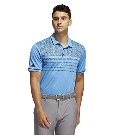 adidas Golf Core Novelty Polo (Light Blue) Men