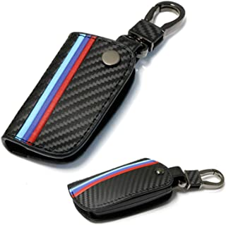 TRUST Carbon Fiber Leather Smart Remote Key Case Cover Holder Key Chain Cover Remote for BMW 1 3 5 6 7 Series X1 X3 X4 X5 X6 1 3 5 7 Series