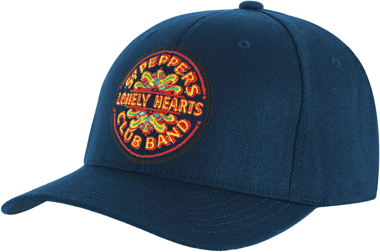 Beatles Men's SGT. Pepper Drum Baseball Cap Adjustable Mid Blue