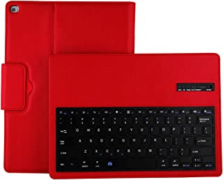 Binguowang Keyboard Case for iPad Pro 12.9 2015 & 2017 with Detachable Wireless Keyboard, Ultra Slim PU Leather Folio Stand Cover for Old Model iPad Pro 12.9 Inch 2015 & 2017 Red