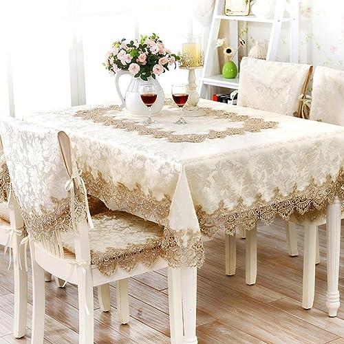 HUANZI Polyester Rechteckige Tischdecke Spitze Tischdecken Stickerei Pastoralen Tischdecken, 140  190