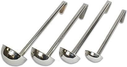 CucinaPrime Set of 4 Stainless Steel Soup Ladle 2oz, 4oz, 6oz, 8oz