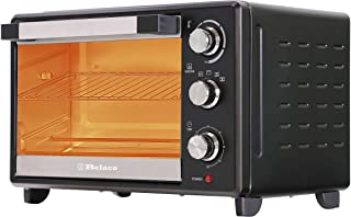 Belaco 23L Toaster Oven Tabletop Cooking Baking Portable Oven Rotiseerie1380w 60 min Timer with auto shut off 100-250° Sta...