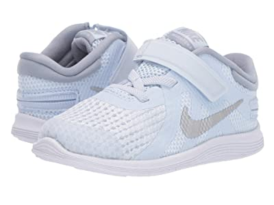 Nike Kids FlyEase Revolution 4 (Infant/Toddler) (Half Blue/Metallic Silver/Obsidian Mist) Kids Shoes