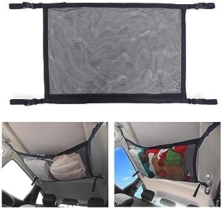 BRITOR Car Ceiling Storage Net Pocket-Universal Car Roof Interior Cargo Net Bag with Zipper,Car Trunk Storage Organizer Su...