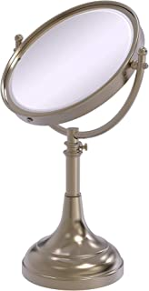 Allied Brass Height Adjustable 8 Inch Vanity Top Make-Up Mirror 4X Magnification, DM-1/4X-PEW
