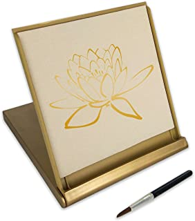 Zen Artist Board Mini, Gold, Paint with Water Relaxation Meditation Art, Relieve Stress, Small Travel Size Magic Drawing Watercolor with Brush