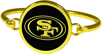 Siskiyou NFL unisex-adult Gold Tone Bangle Bracelet