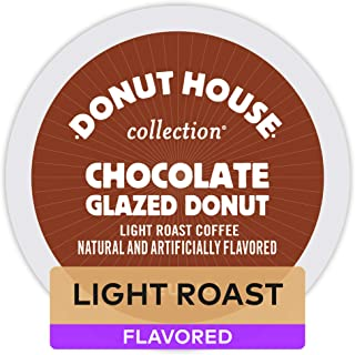 Donut House Collection Chocolate Glazed Donut Keurig K-Cups Coffee, 12 Count