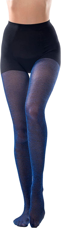 Women's Lurex Shimmer Tights Metallic Sparkle Glittery Pantyhose