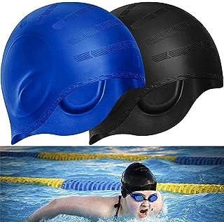 BETOY Cuffia da Nuoto per la Protezione delle Orecchie 3D - Cuffia Piscina Donna Uomo - Cuffia Nuoto Silicone Impermeabile...