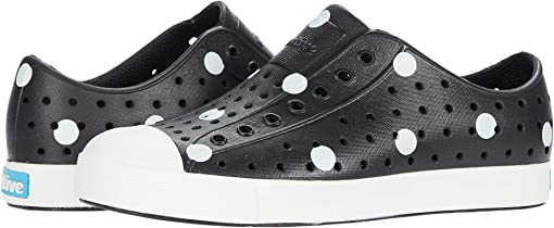 Jiffy Black/Shell White/White Polka Dots