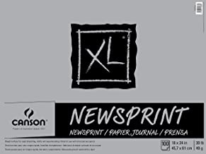 Canson Biggie Newsprint Pad - 18 x 24 Inches - 100 Sheet Pad
