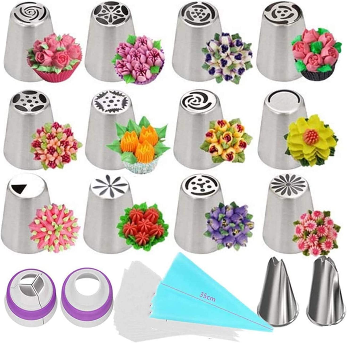 Russian Piping Tips Set Decoo 27 Large discharge sale Decorating Supplies Pcs Cake K Excellent
