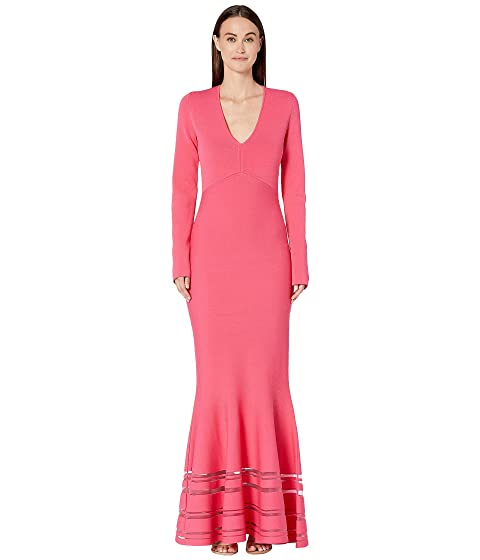 Zac Posen Long Sleeve Deep V Dress