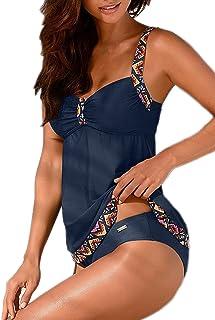 comprar comparacion Tankinis Mujer Traje de Baño de Dos Piezas Conjunto Push up Bikini Playa Beachwear
