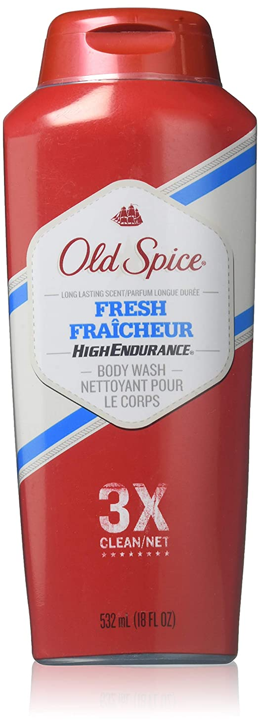 外出文明化する役に立つOld Spice 高耐久新鮮Fraicheurボディウォッシュ18オズ(10パック) 10のパック