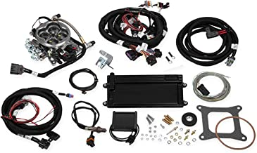 NEW HOLLEY TERMINATOR EFI FUEL INJECTION LS TBI KIT,POLISHED W/TRANSMISSION CONTROL,COMPATIBLE WITH GM LS1/LS6 & 1999-2007 4.8/5.3/6.0 TRUCK ENGINES,24X CRANK RELUCTOR & CARBURETED INTAKE MANIFOLD