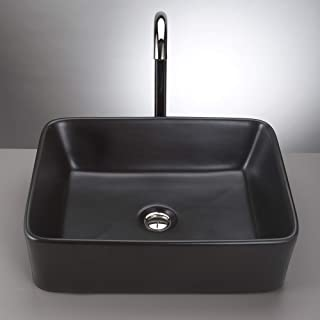 black glass bathroom sink