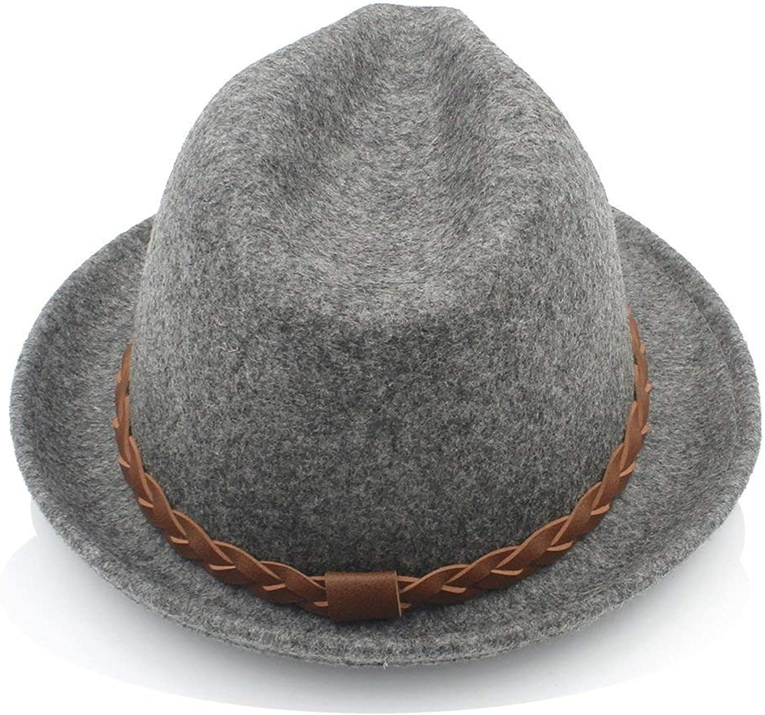 Women Men Chapeau Femme Fedora Hat Gentleman Sombrero Trilby Church Derby Cloche Top Cap with Fashion Leather Warm Soft and Comfortable Hats
