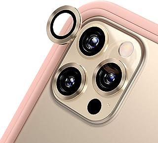 RhinoShield iPhone 12 Pro Max カメラレンズプロテクター[3個入り] | 9H 強化ガラス 高い透明度 傷を防ぐ - ゴールド