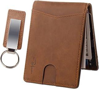 BLACARO - Fotenza Classic Leather Bifold Wallet for Men With ID Window - RFID Blocking - Keychain - Smart Design - Gift Bo...
