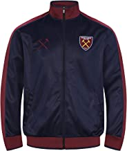 West Ham United Fc Official Soccer Gift Mens Retro Track Top Jacket
