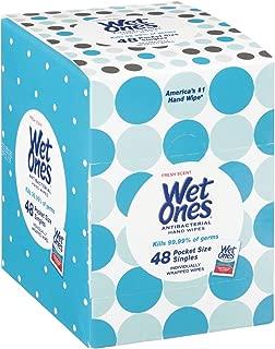 Wet Ones Antibacterial Hand Wipes Singles, Fresh Scent, 48 Count
