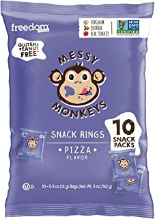 MESSY MONKEYS Baked Snack Pizza, 10 Bags