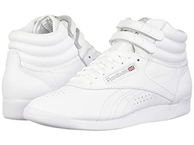 Reebok Lifestyle Freestyle Hi High Top (White/Silver) Women