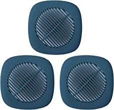 """Silicone Shower Drain Cover - 5.5"""" Hair Catcher Sink Strainer Filter with Suction Cups for Bathroom Bathtub Kitchen 3 Pack..."""