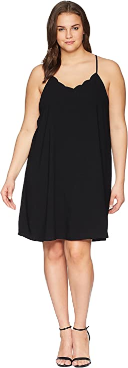 Plus Size Carlee Spaghetti Strap Scalloped Dress