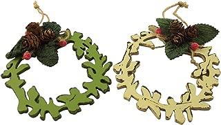 Gisela Graham Christmas Tree Decoration - Set of 2 Fretwork Wreath Cones