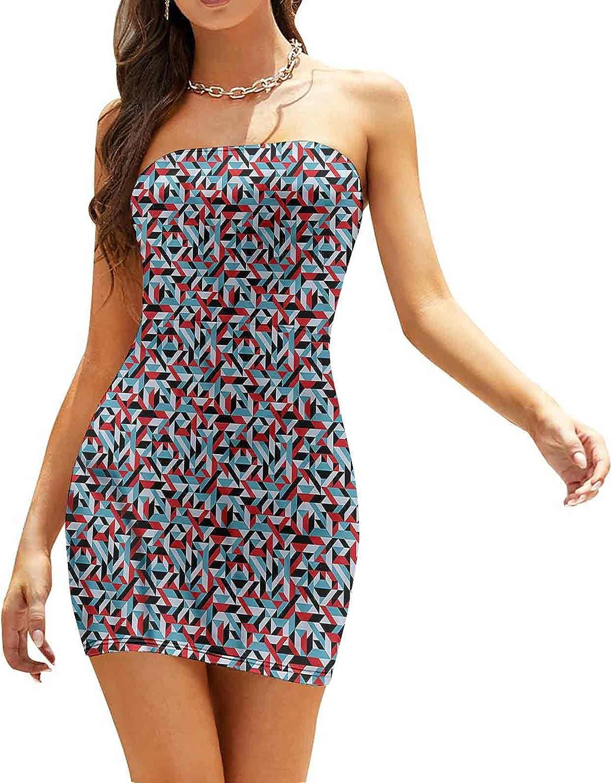 Women's Summer Strapless Dresses Alphabet Cake Topping Dresses