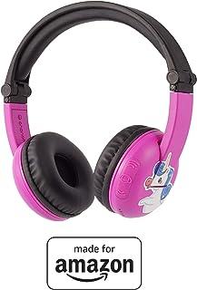BuddyPhones PlayTime - Nuove cuffie Bluetooth Made for Amazon, per bambini da 3 a 7 anni, rosa